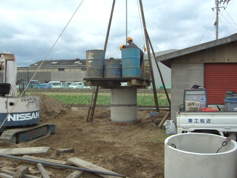 松山市南吉田町の農家さん。潅水用に掘井戸を掘削しました。