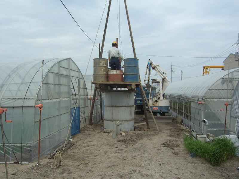 伊予郡松前町の農家さん。潅水用に掘井戸を掘削しました。