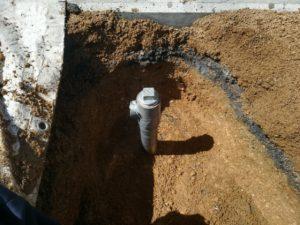 井戸パイプの高さ調整