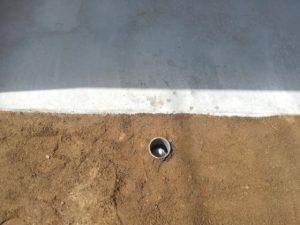 埋設した打抜き井戸