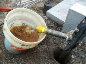 打抜き井戸の深度調整