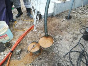 打抜き井戸の洗浄