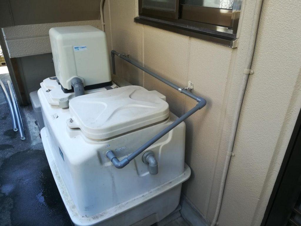 井水ポンプ配管工事