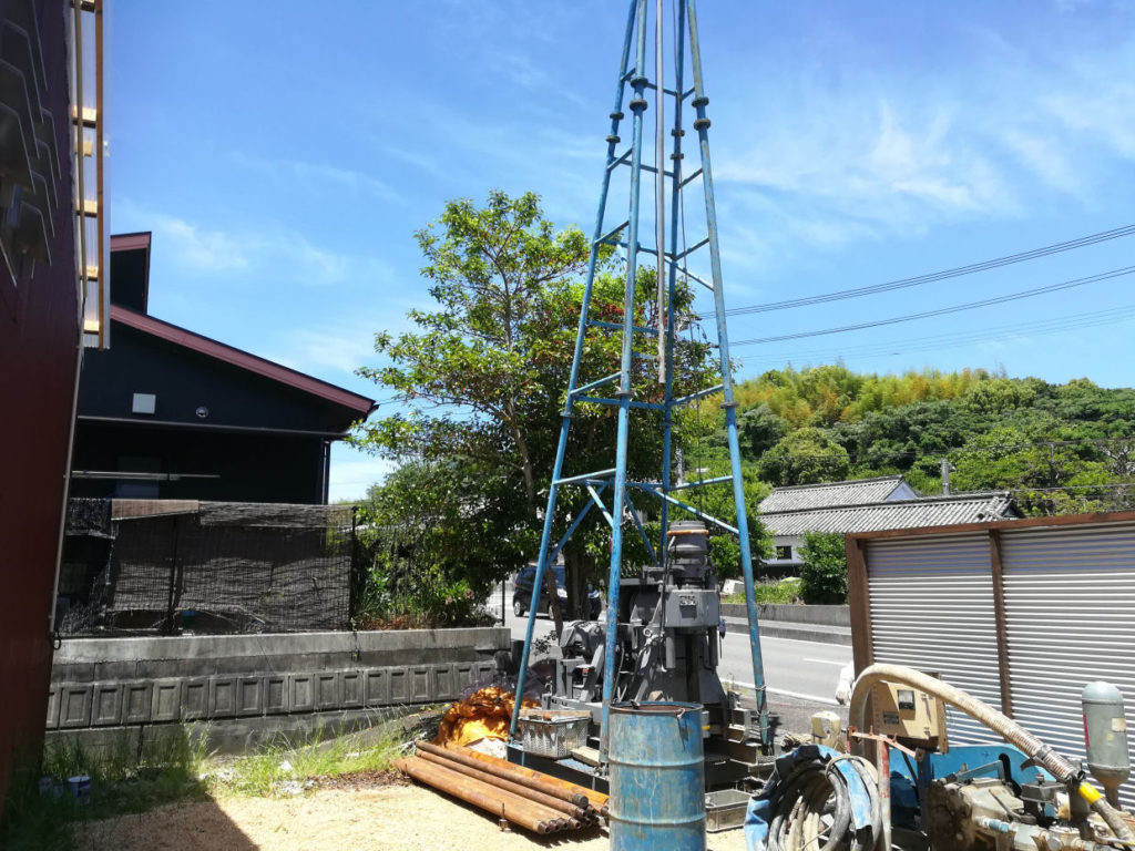 深井戸ボーリング掘削工事(松山市船ケ谷町)