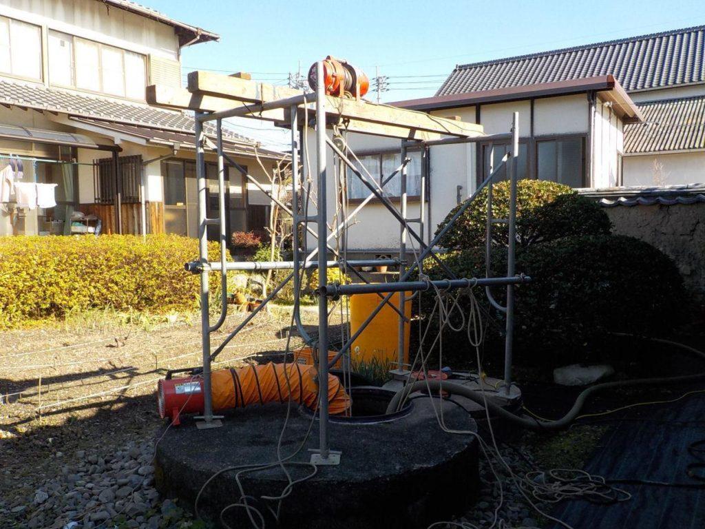 掘井戸の洗浄工事