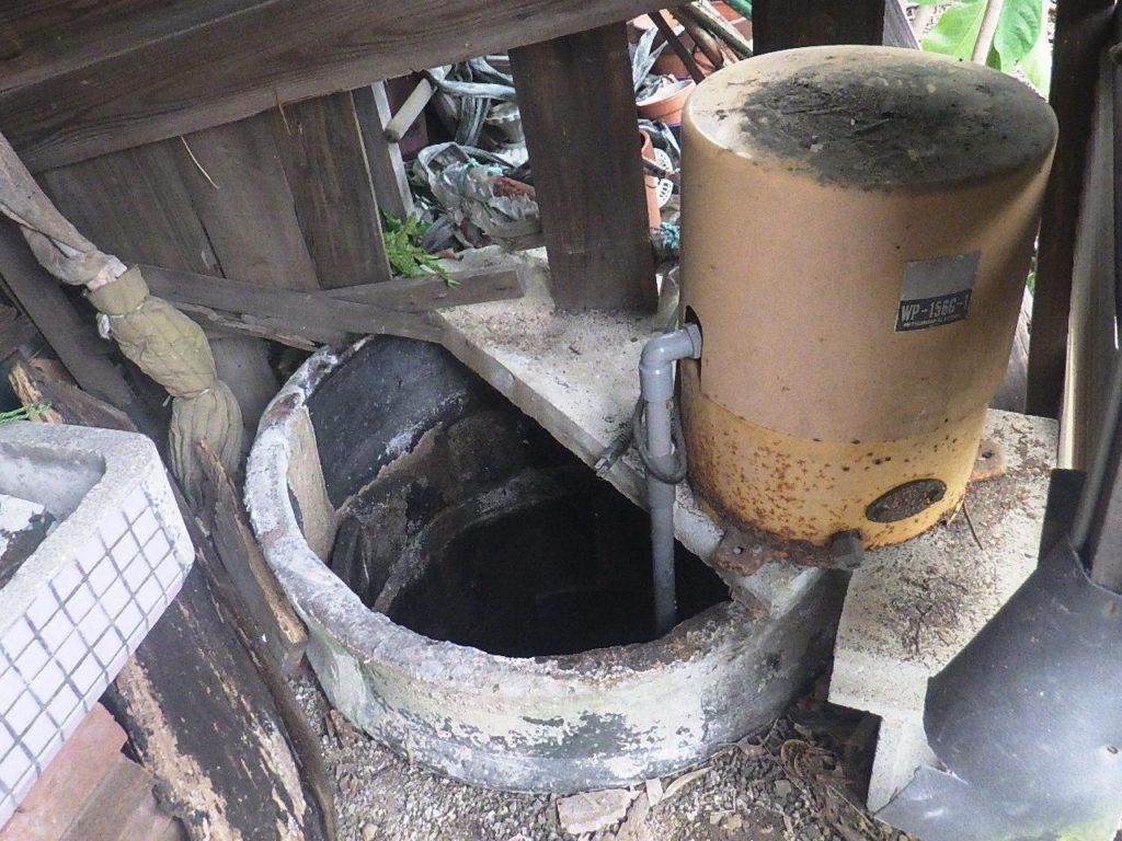 水位低下した井戸