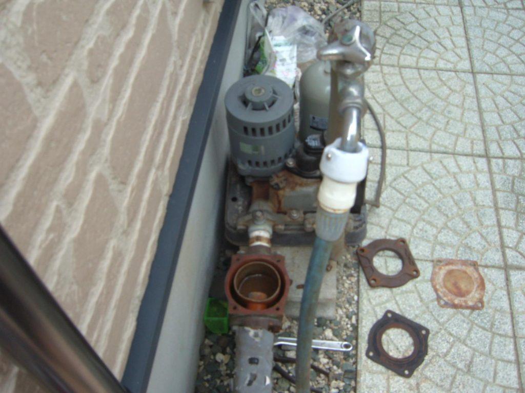 浅井戸ポンプの取替