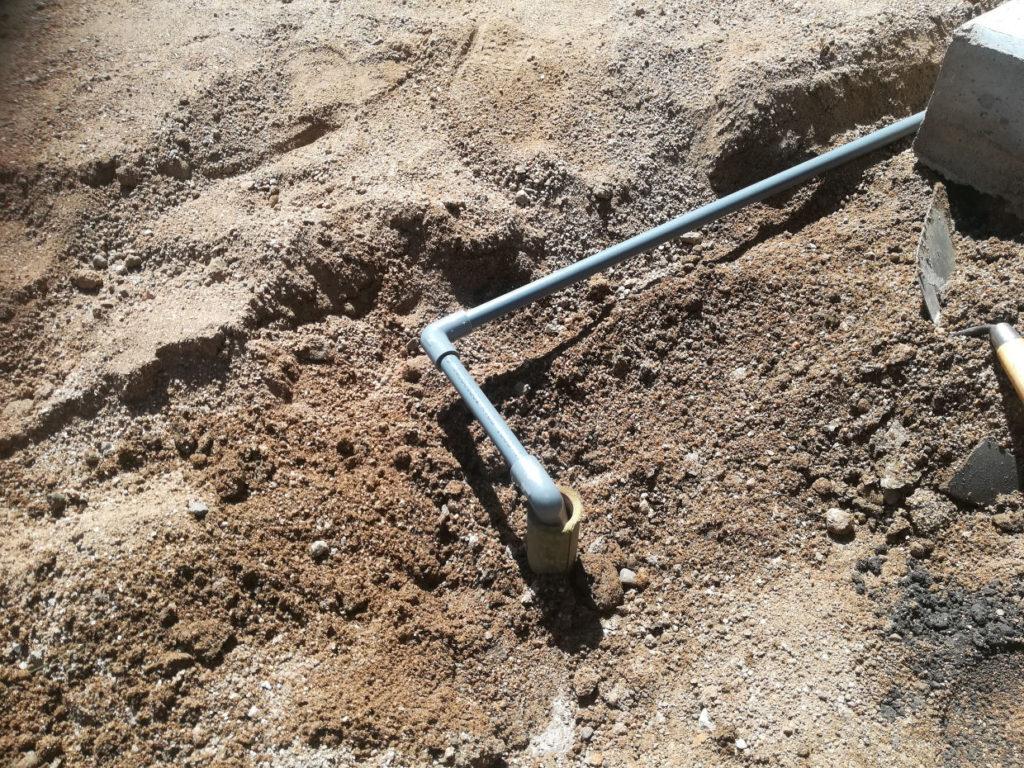 井戸埋め 空気抜き処理