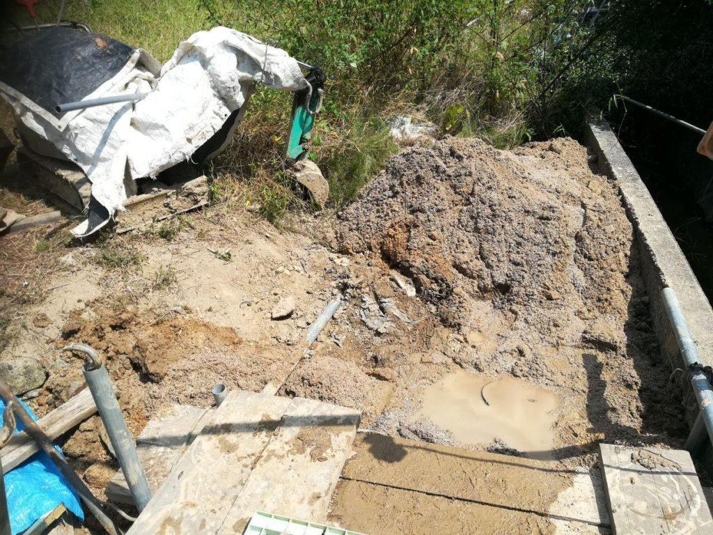 掘削した土砂