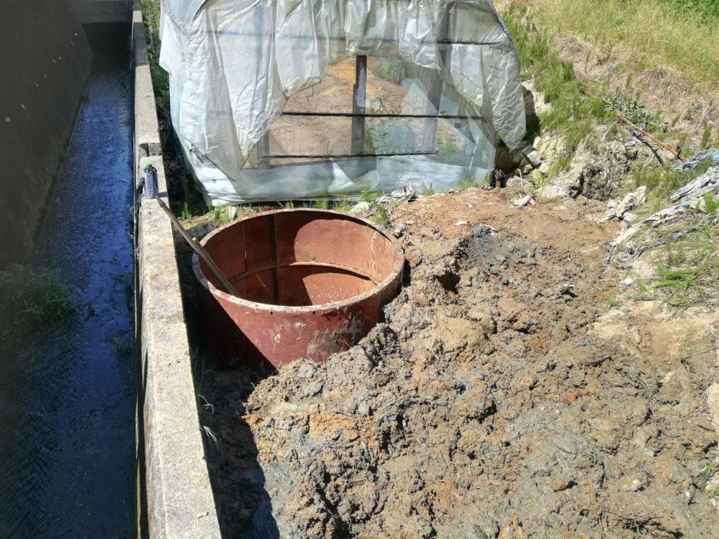 掘井戸掘削 準備