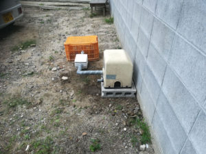井戸ポンプ取付