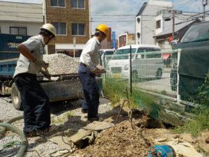 古井戸の縮小・再生工事