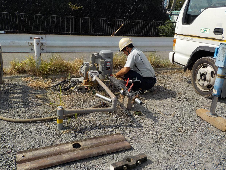 井戸設備の撤去