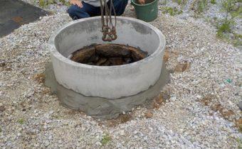 古井戸の補強