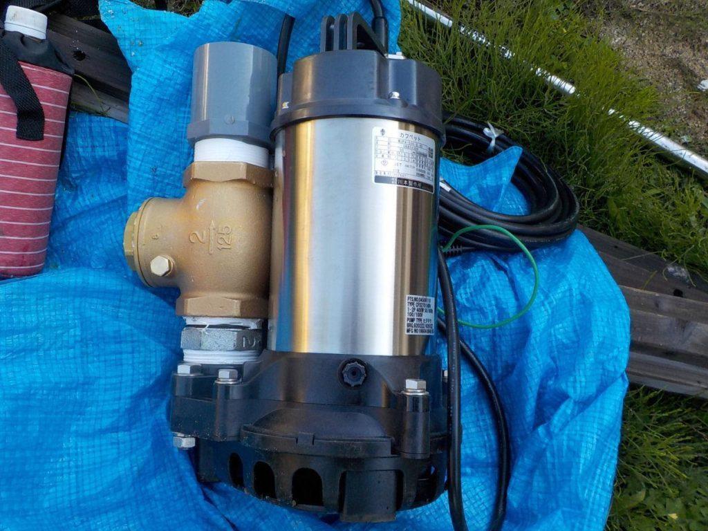 川本製 排水水中ポンプ カワペット WUP4-506-0.4S