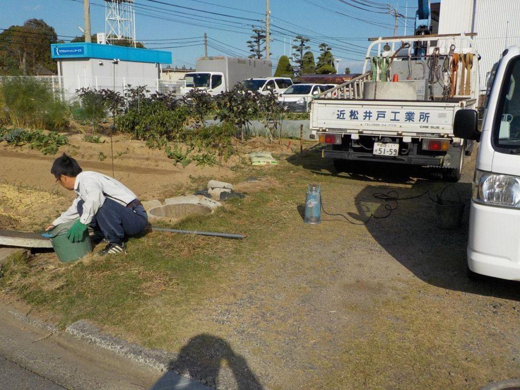 井戸の掃除