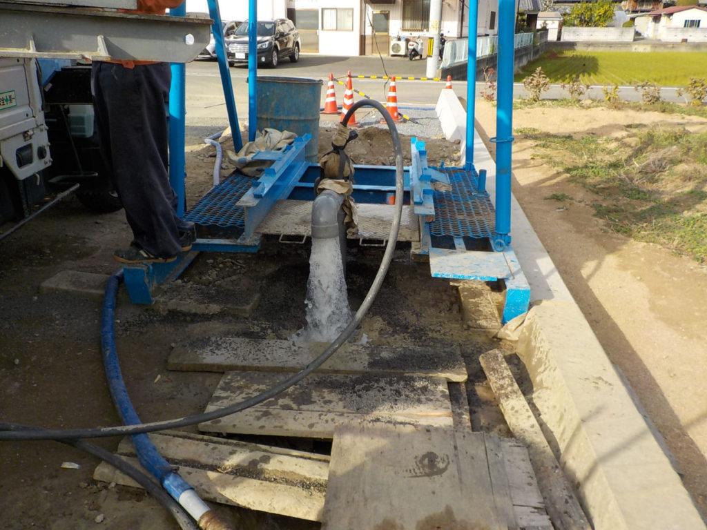 ボーリング井戸 洗浄