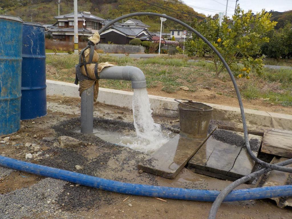 ボーリング井戸洗浄