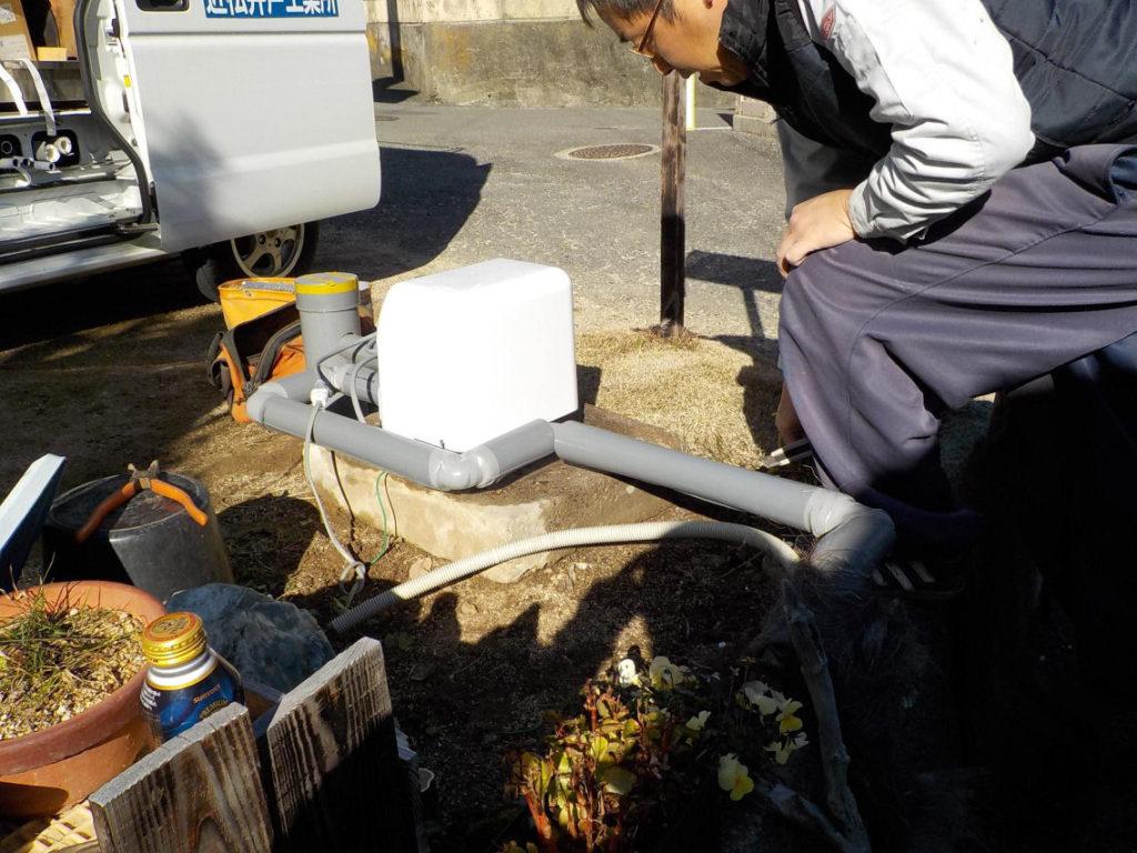 ポンプ取替に伴う配管工事