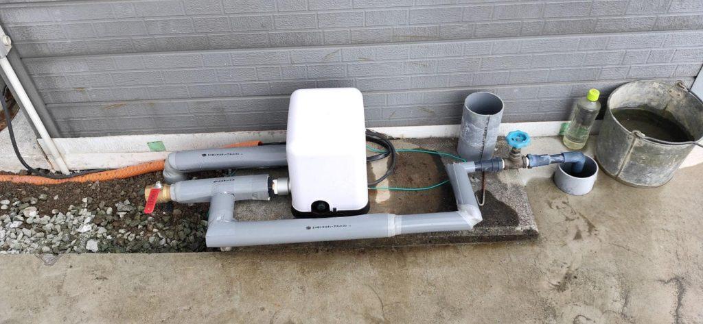 井戸ポンプ取付完成