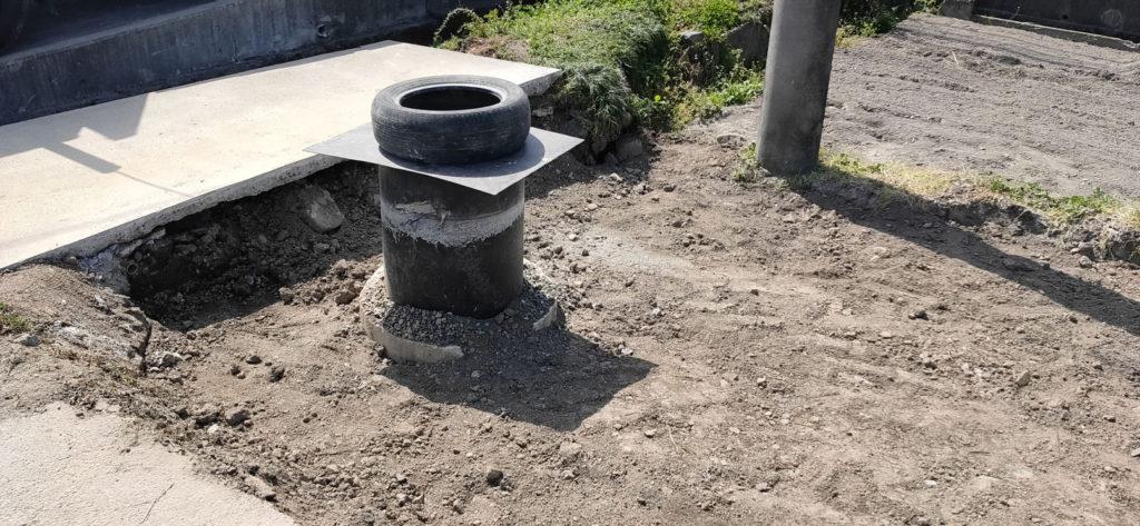 井水設備建屋解体後 井戸