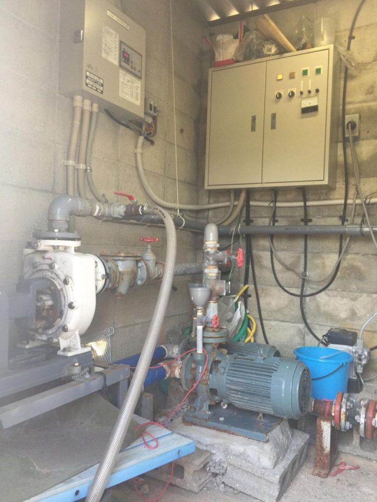 地域組合の井水設備