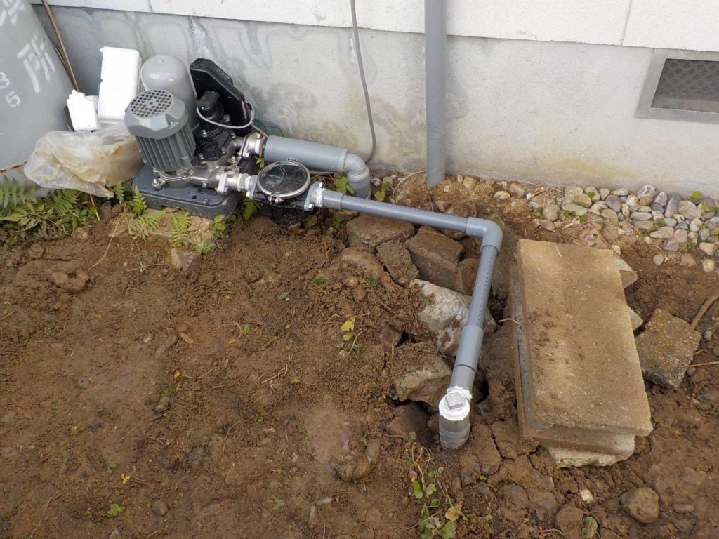 打抜き井戸掘り完成