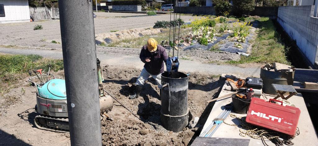 井戸の埋め戻し工事