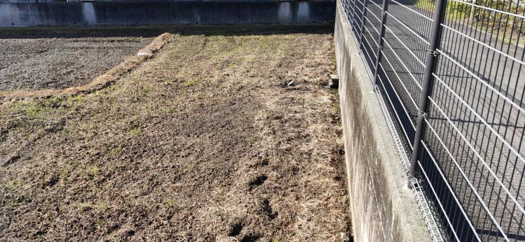 水田に稲作用の井戸掘り予定