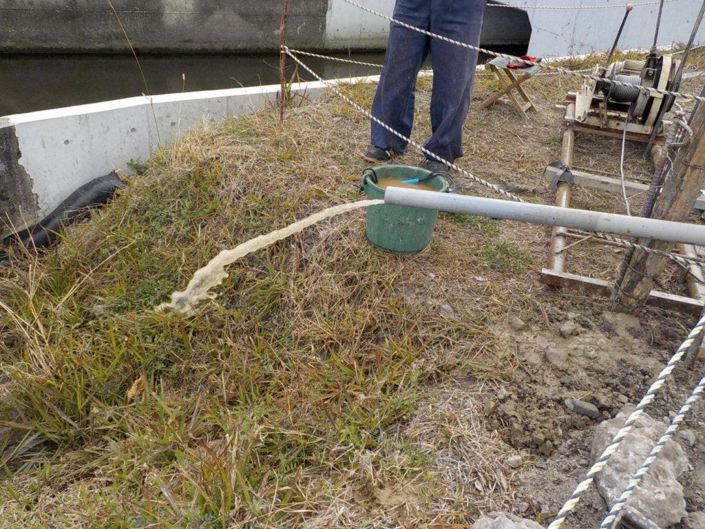 西条市にて打抜き井戸工事