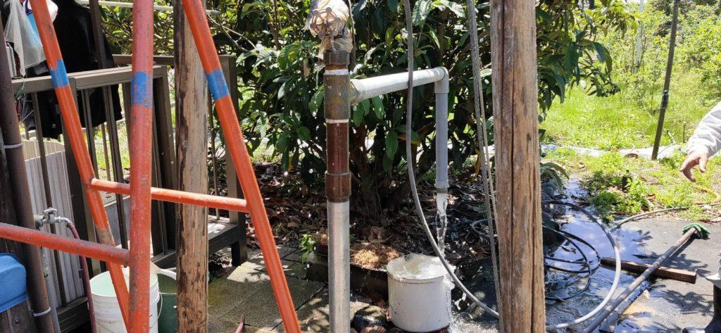 打抜き井戸工事で無事に地下水を発見