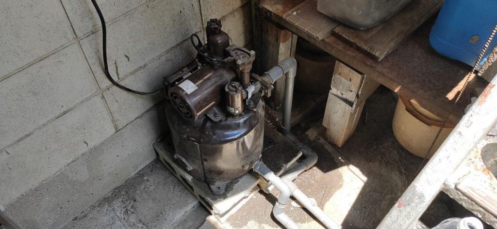 古井戸とポンプのチェック