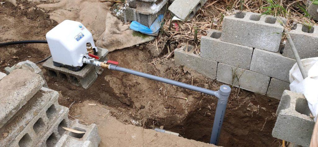 井戸ポンプ移設