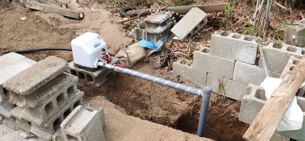 井戸ポンプ移設 完成