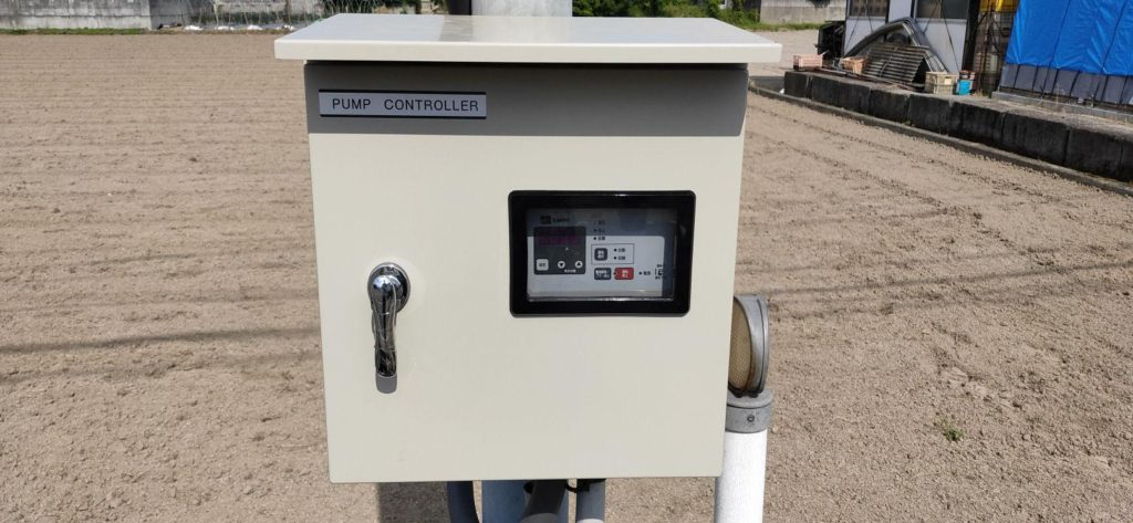 汲田揚水機(水中ポンプ) 制御盤取替