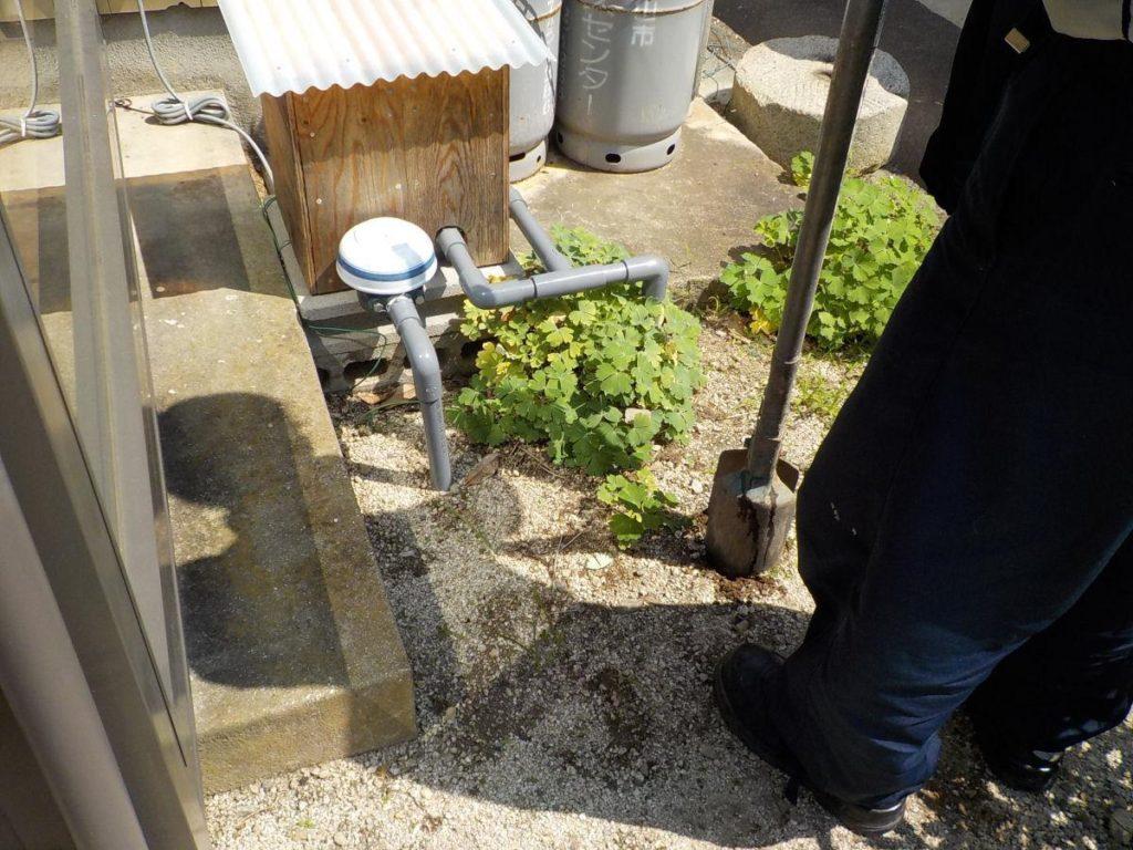 井戸の掘削 試掘