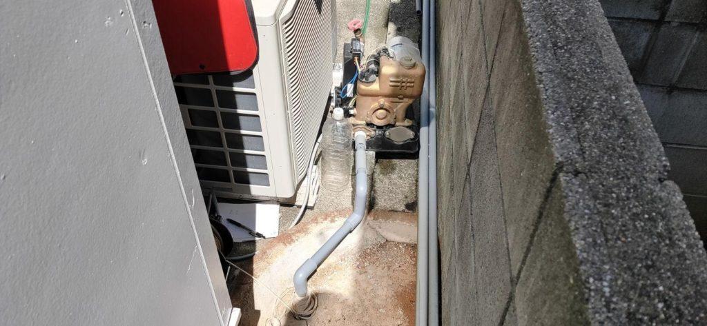 使っていない井戸の水量調査
