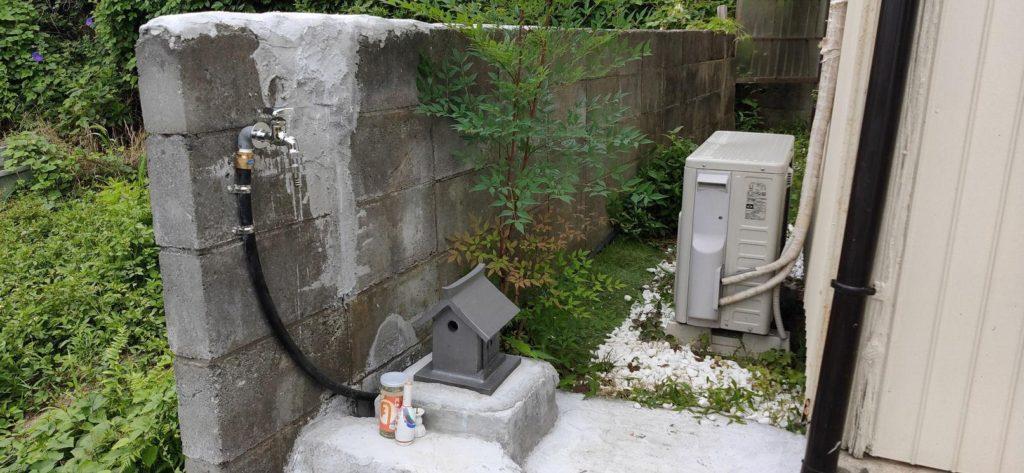 井戸を再利用。畑へ蛇口新設