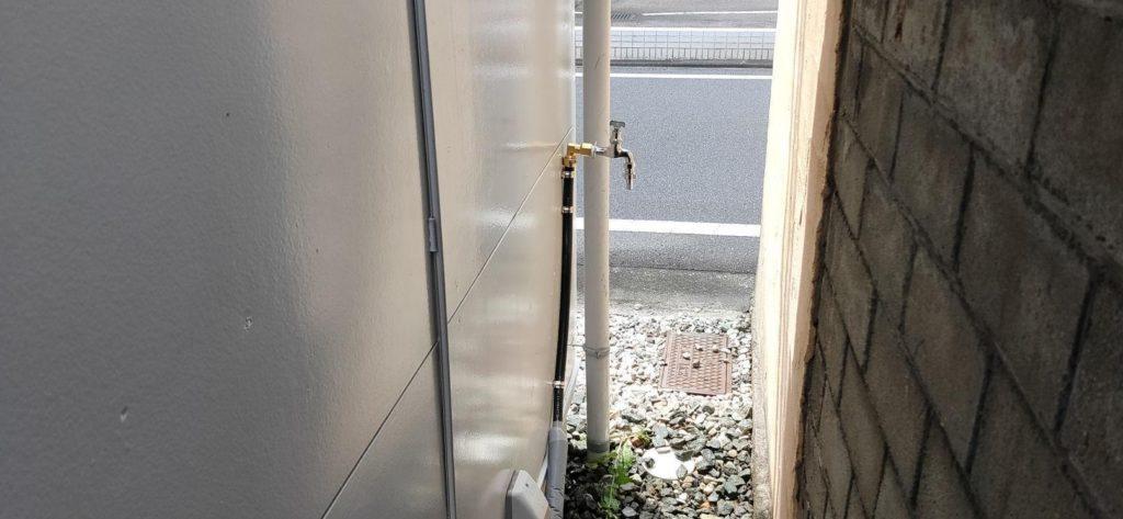 井戸水専用蛇口を設置
