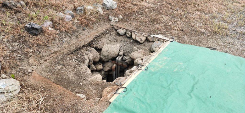 古井戸の埋め戻し
