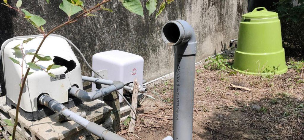 自噴する井戸