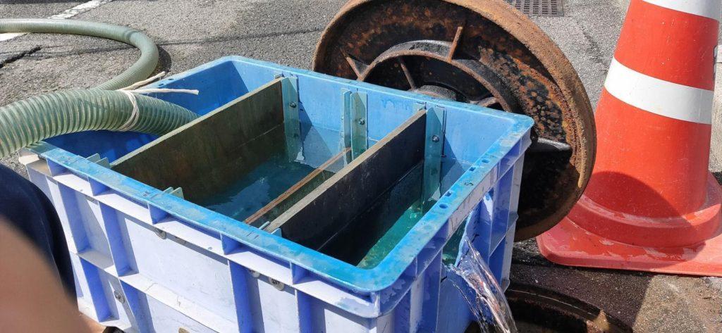 掘井戸の洗浄