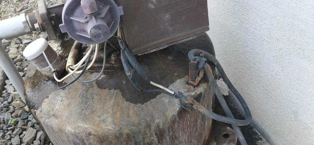 老朽化した井戸ポンプの取替